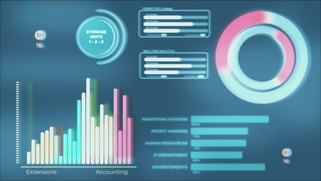Marketing infographic data charts animation