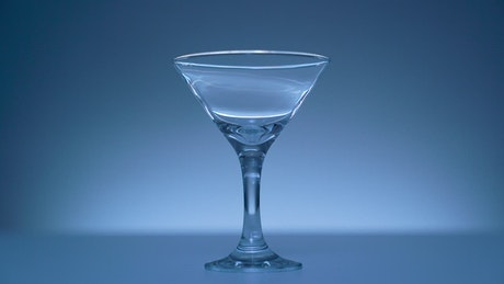 Martini glass on the table