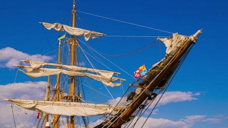 Masts of a sailing ship
