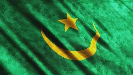 Mauritania faded flag