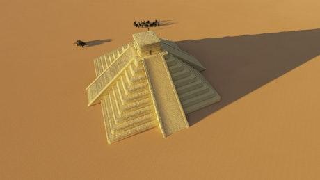 Mayan pyramids in the desert