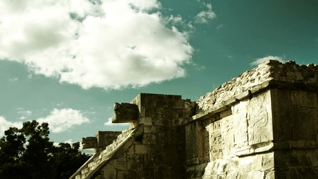 Mayan ruins and the sky