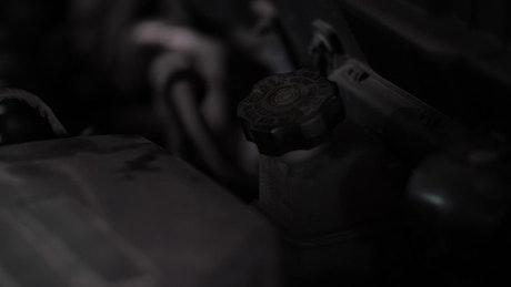 Mechanic working on an engine