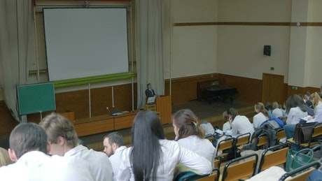 Medical lecture at a University
