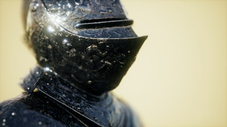 Medieval armor worn by a Knight