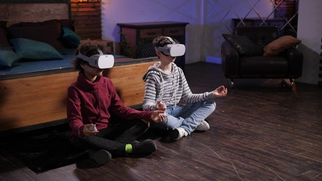 Meditating with VR