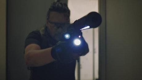 Mercenary looking for zombies