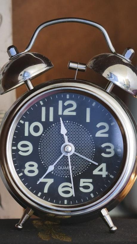 Metal bells alarm clock