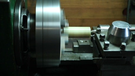 Metal lathe spinning quickly