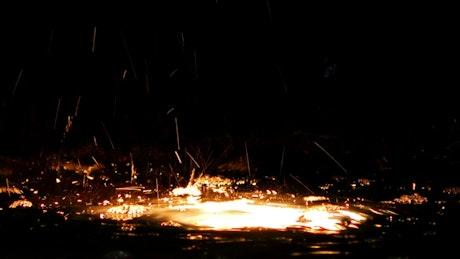 Metal melting under water