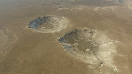 Meteor impacts on the ground