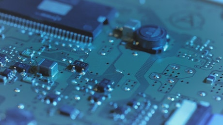 Microchip technology close up