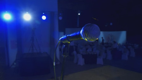 Microphone in a party hall