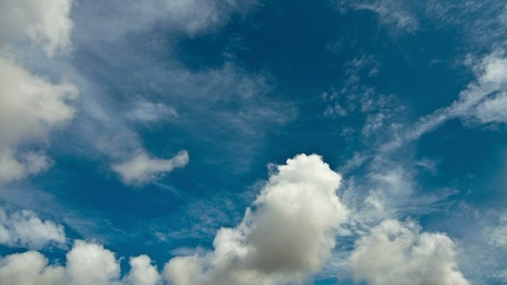 Midday clouds across the sky