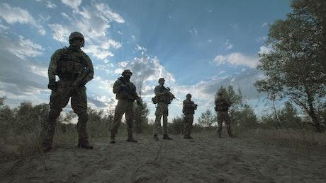 Military troop standing outdoors