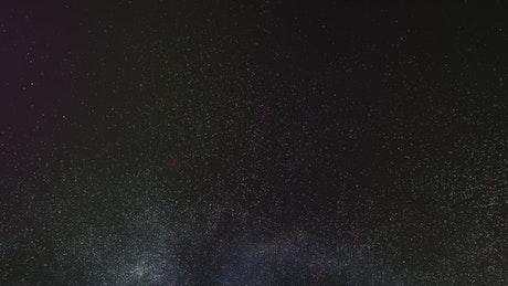 Milky way illuminating space with its abundant stars