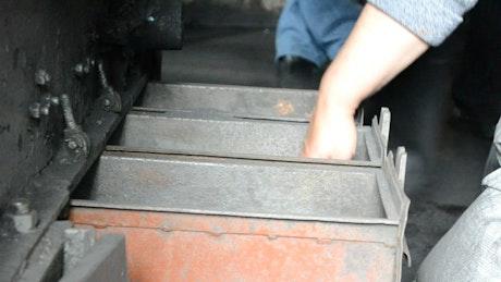 Miner in a coal mine