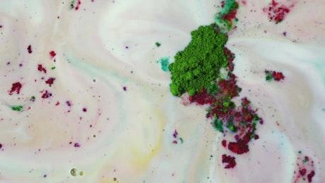 Mixing powder paints