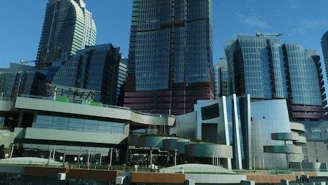 Modern buildings across the city