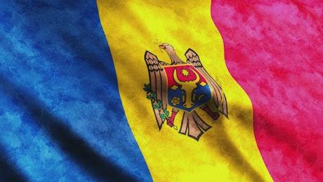 Moldova flag, 3D render