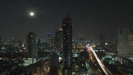 Moon above Bangkok