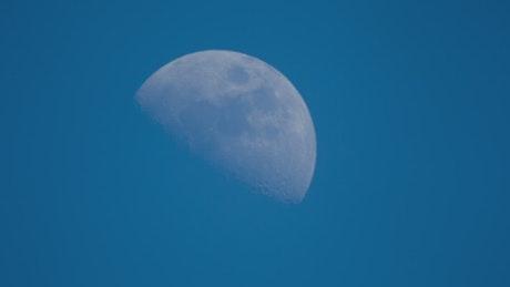 Moon close up shot