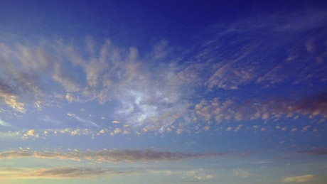 Morning clouds against a blue sky