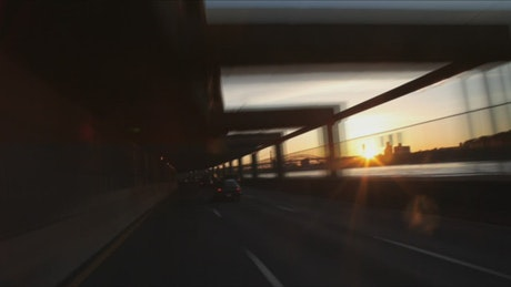 Morning drive across the city