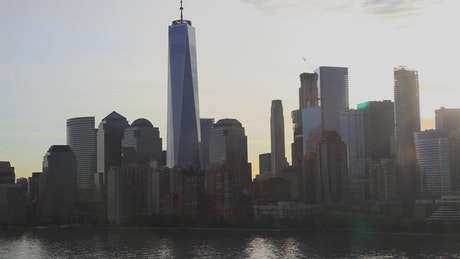 Morning in Manhattan over the Hudson