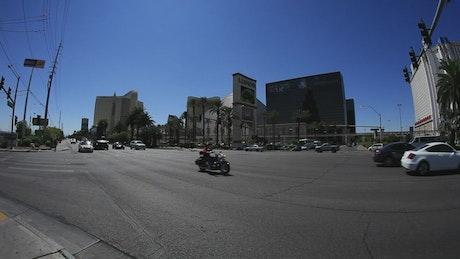 Morning traffic in Las Vegas