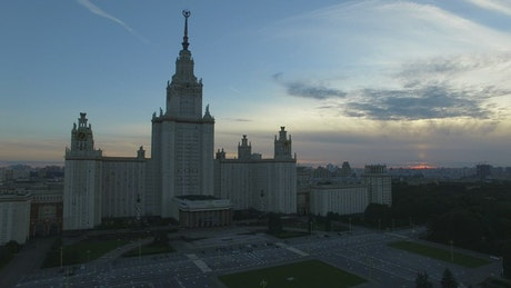 Moscow State University before night comes