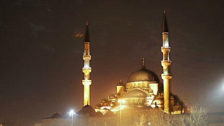 Mosque during the night