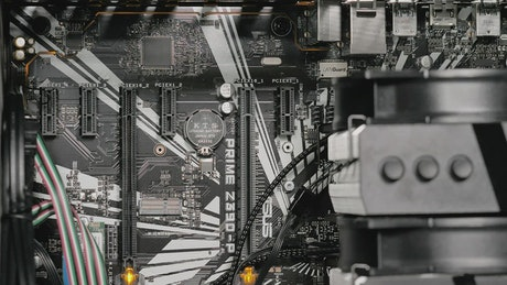Motherboard with a big fan