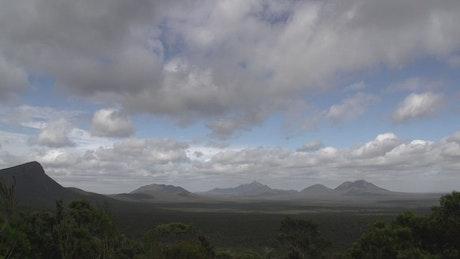 Mountain range landscape time lapse