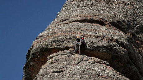 Mountaineers rock climbing