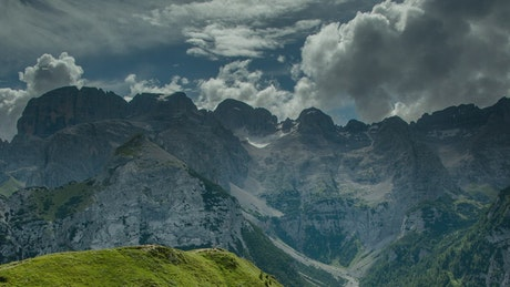 Mountainous area in the Alps