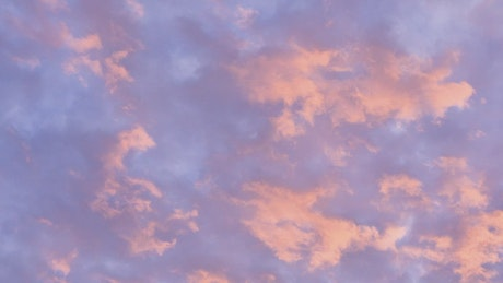 Moving clouds that change color
