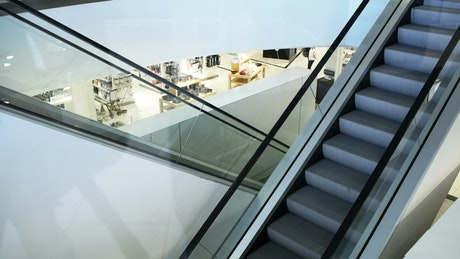 Moving stairs inside a building
