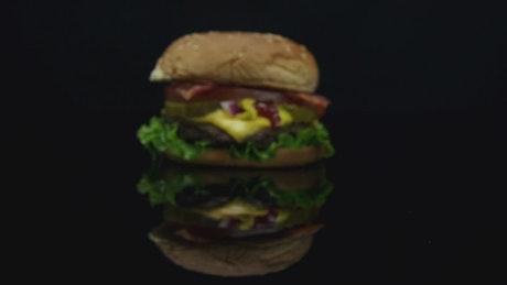 Moving towards a burger