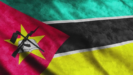Mozambique flag from African continent