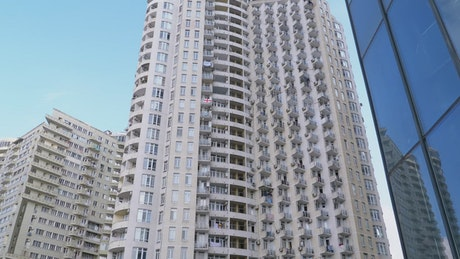 Multi story building apartment