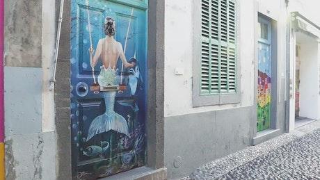 Mural art at the doors