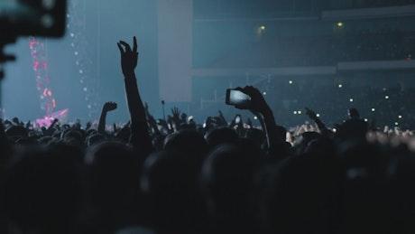 Music fans at a pop concert