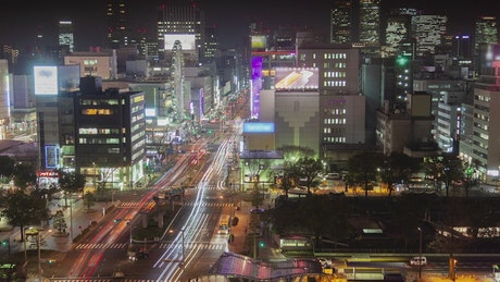 Nagoya  downtown at night