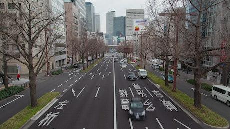 Nagoya street traffic during daytime
