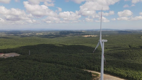 Natural panorama from the top of a windmill