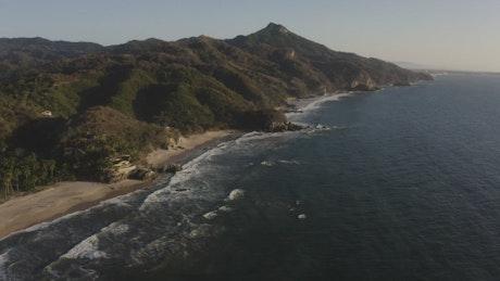 Natural seashore landscape