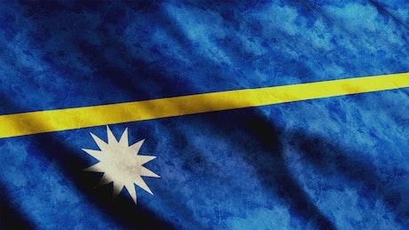 Nauru faded waving flag, 3D animation
