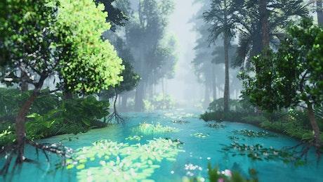 Navigating the river of a luminous virtual jungle