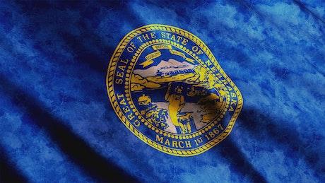 Nebraska State waving flag